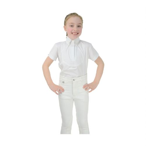 HyFASHION Children's Tilbury Short Sleeved Tie Shirt in White